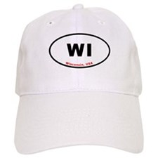 WI Euro Oval Sticker Gifts Baseball Cap