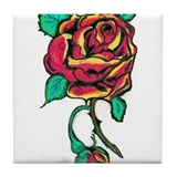 Rose Tile Coaster