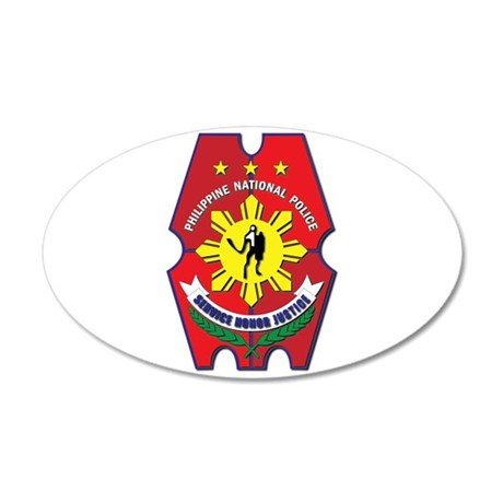 Philippine National Police S 35x21 Oval Wall Decal