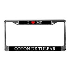 Love Coton de Tulear License Plate Frame