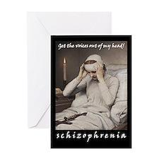 Schizophrenia Greeting Card
