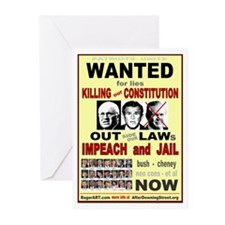 Wanted bush cheney Out Laws Greeting Cards (Pk of