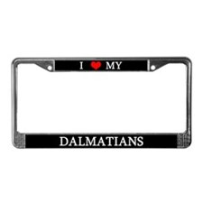 Love Dalmatians License Plate Frame