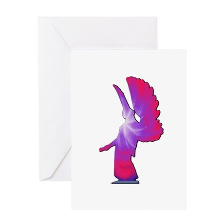 Pink Rainbow Angel Greeting Card
