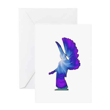 Blue Rainbow Angel Greeting Card