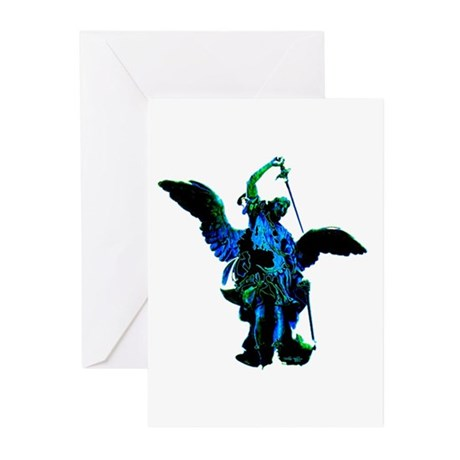 Powerful Angel - Blue Greeting Cards (Pk of 10)