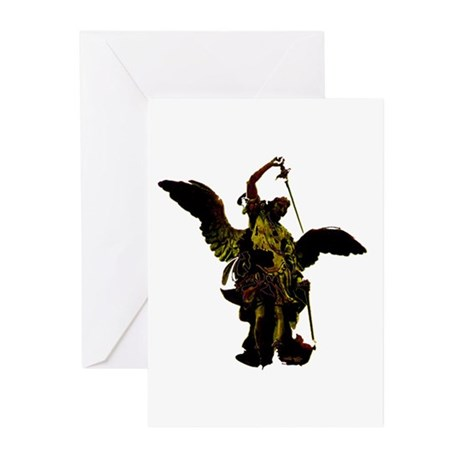 Powerful Angel - Gold Greeting Cards (Pk of 10)