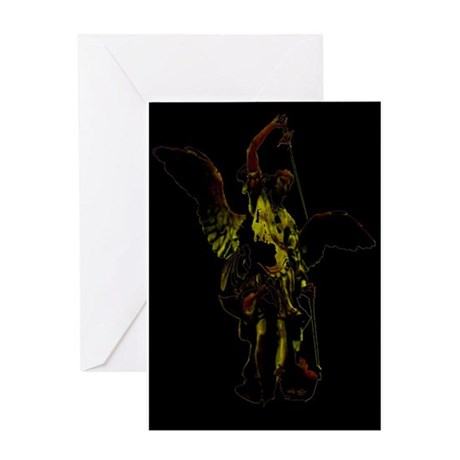 Powerful Angel - Gold Greeting Card