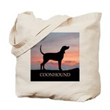 Sunset Coonhound Tote Bag