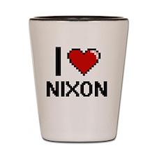 I Love Nixon Shot Glass