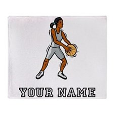 Cartoon Basketball Player Throw Blanket