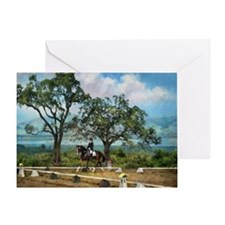 Woodside Trot Dressage Horse Greeting Card (1)
