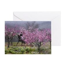 Spring Half Pass Dressage Greeting Card (1)