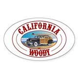 California Woody Oval Decal