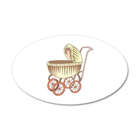 OLD BABY CARRIAGE Wall Decal