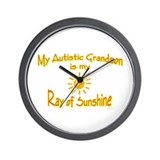 Ray Of Sunshine (Grandson) Wall Clock
