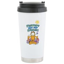 Flowers Are Our Friends Stainless Steel Travel Mug