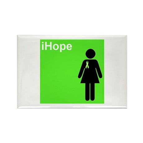 iHope (lime green) Rectangle Magnet (10 pack)