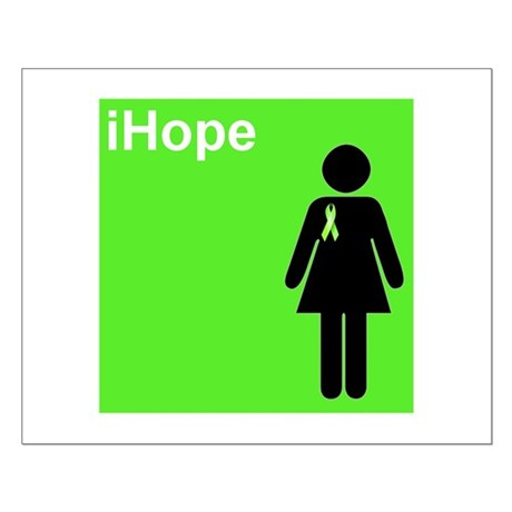 iHope (lime green) Small Poster