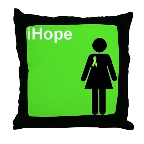 iHope (lime green) Throw Pillow