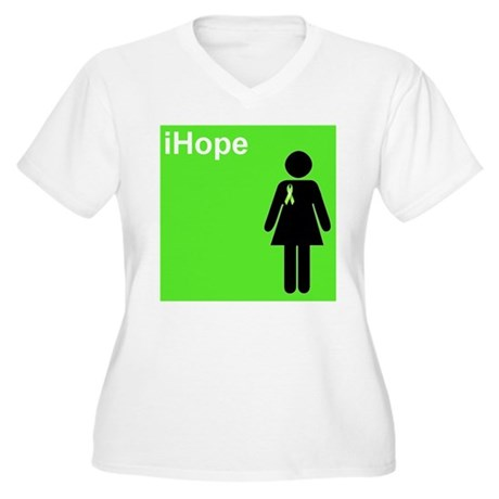 iHope (lime green) Women's Plus Size V-Neck T-Shir