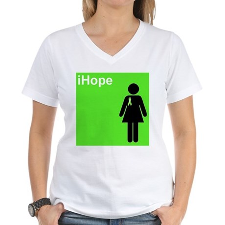 iHope (lime green) Women's V-Neck T-Shirt
