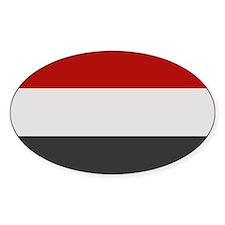 """""""Yemen Flag"""" Oval Decal"""