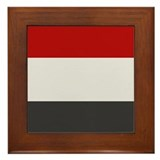 """Yemen Flag"" Framed Tile"