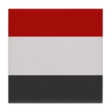"""Yemen Flag"" Tile Coaster"