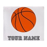 Customizable basketball ball Blankets
