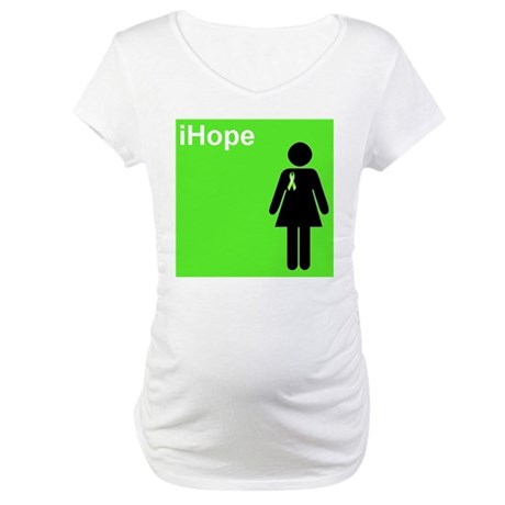 iHope (lime green) Maternity T-Shirt