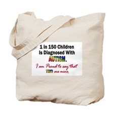 1 In 150 Children (2 Are Mine) Tote Bag