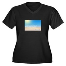 Cool Miracles Women's Plus Size V-Neck Dark T-Shirt