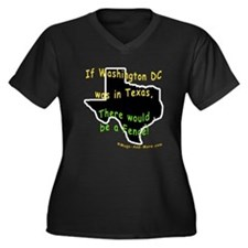 Texas - Women's Plus Size V-Neck Dark T-Shirt