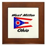 West Milton Ohio Framed Tile