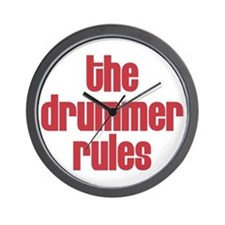 The Drummer Rules Wall Clock