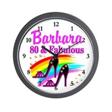 80 AND FABULOUS Wall Clock
