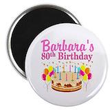 80th birthday Magnets