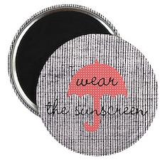 Burlap Style Wear The Sunscreen Sun Beach Magnets