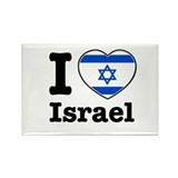 I love Israel Rectangle Magnet