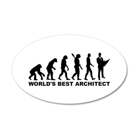 Evolution World's Best Archi 35x21 Oval Wall Decal