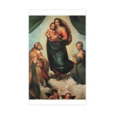 Sistine Madonna Rectangle Decal