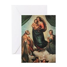 Sistine Madonna Greeting Card