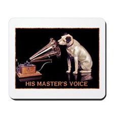 VINTAGE DOG ART: RCA DOG Mousepad