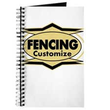Fencing Star stylized Journal