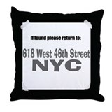If found please return to 618 Throw Pillow