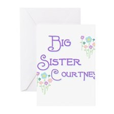 Big Sister Courtney Greeting Cards (Pk of 10)