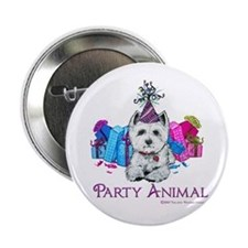 Westie Party Celebration Button