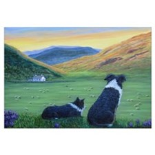 Funny Border collie Wall Art