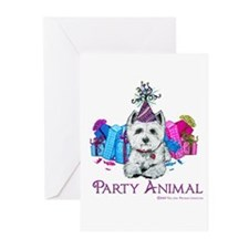 Westie Party Celebration Greeting Cards (Pk of 20)